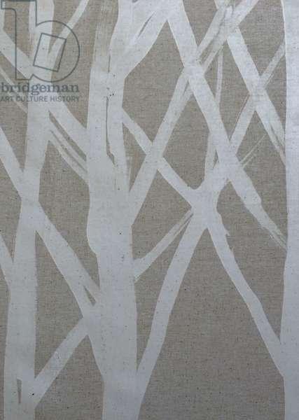 Tree I, 2016, (wax on cloth)