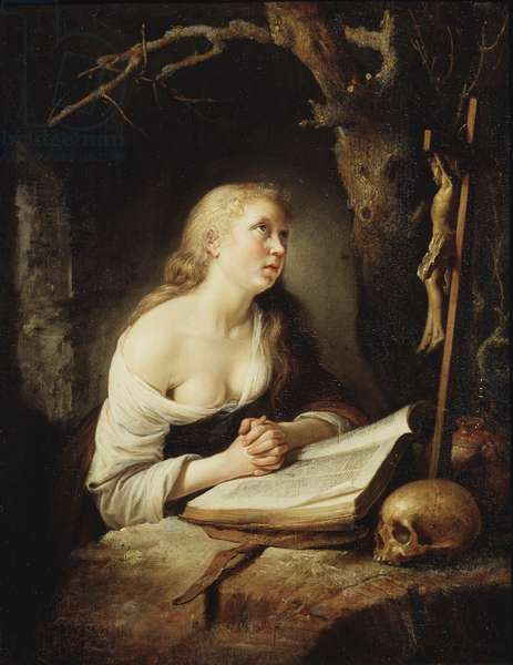 The Penitent Magdalen, c.1650-65 (oil on wood)