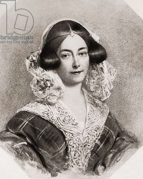 Victoria, Duchess of Kent and Strathearn, 1786-1861. Mother of Queen Victoria, from a portrait by Stone.  From the book