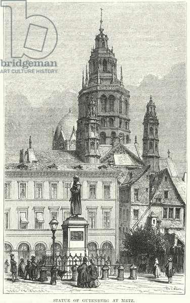 Statue of Gutenberg at Metz (engraving)