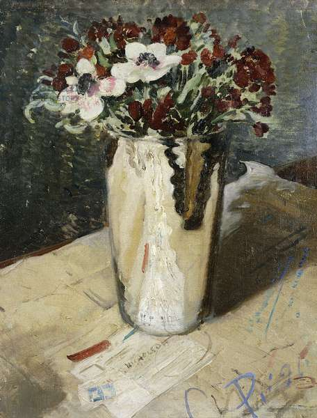 Wallflowers and Anemones, 1930 (oil on canvas)