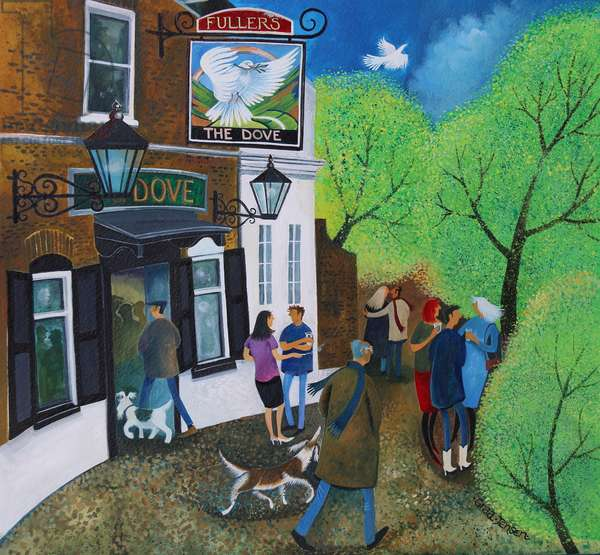 The Dove Pub Hammersmith 2015 (acrylic inks on paper)