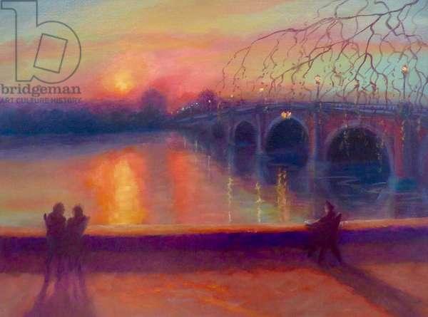Promise (Richmond Bridge), 2019, (oil on canvas)