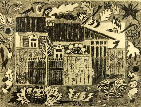 Dacha, 1978 (pastel on paper)