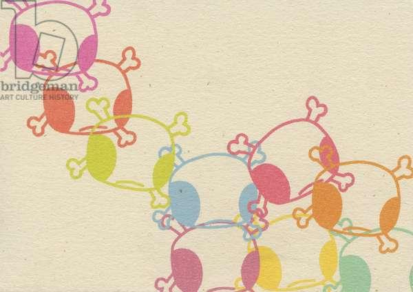 Teddy Skulls, 2008, (digital print on paper)