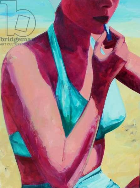 Beach Lipstick, 2014, (oil on canvas)