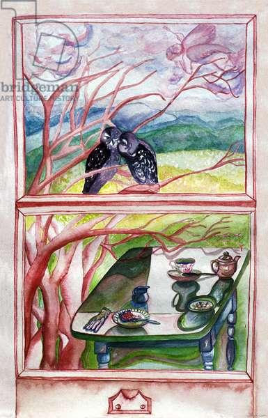 Lover's Tea, 1994, (watercolor)