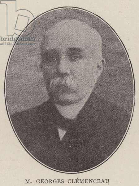 M Georges Clemenceau (b/w photo)