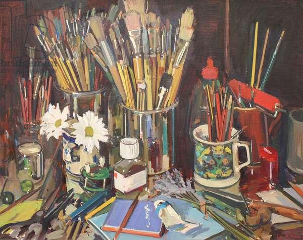 Studio Still Life, 2012, (oil on canvas)