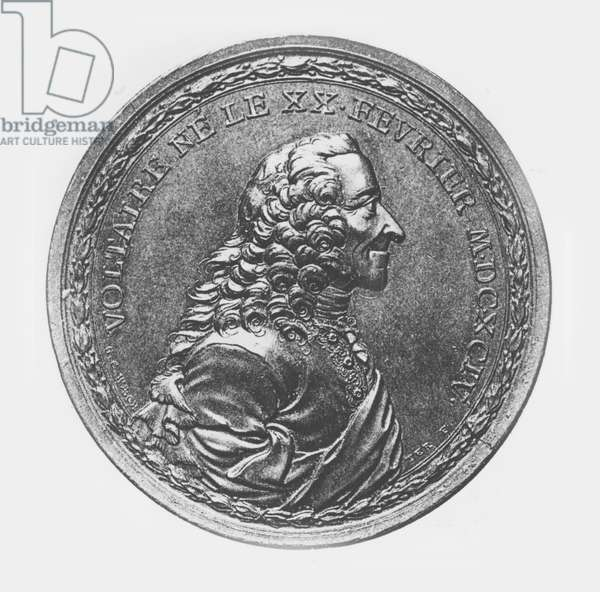 Medallion of Voltaire, c.1770 (litho)