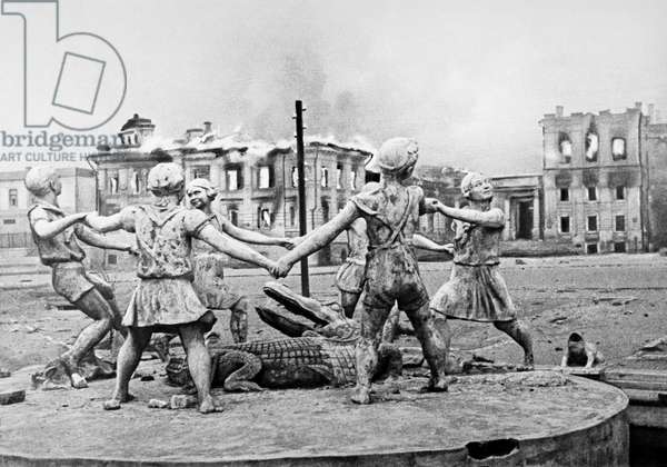 Railway Station Square In Stalingrad Bombed By German Aviation