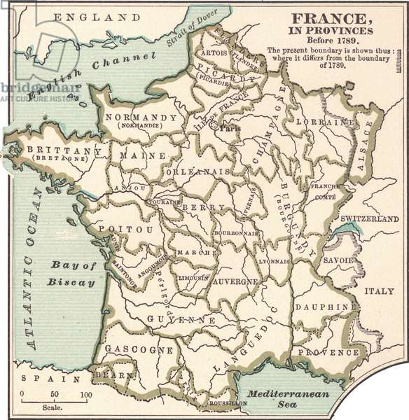 Map of France in Provinces