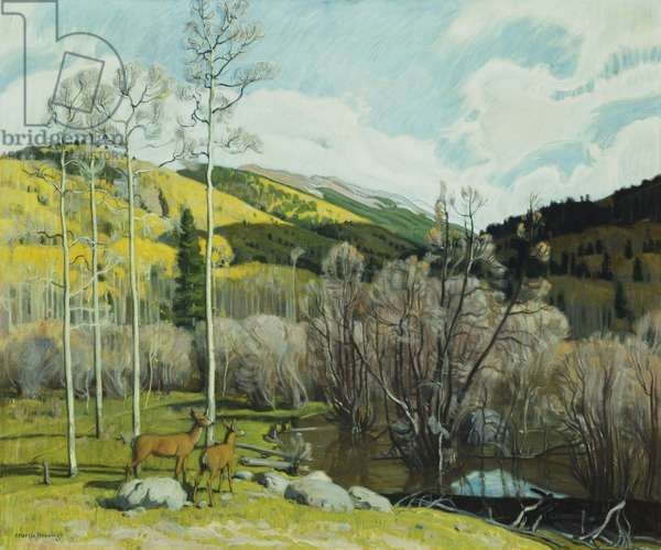 The Beaver Dam Near Twining, New Mexico (or 'Backside of Reubizal'),  (oil on canvas)