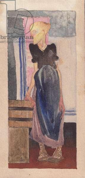Laundress, 1925 (w/c on paper)