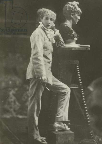 Sarah Bernhardt, in 1869 (b/w photo)