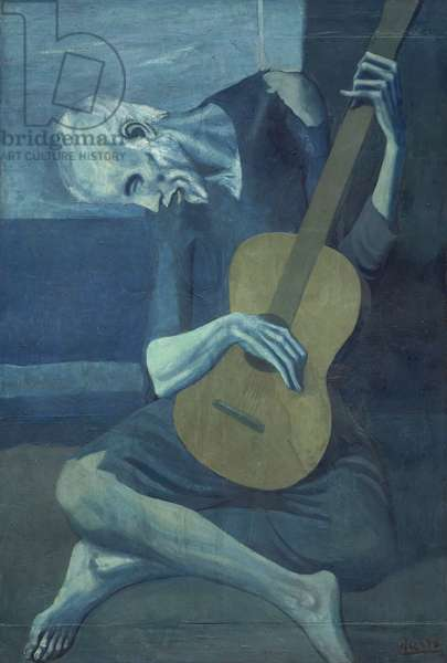 The Old Guitarist, 1903-04 (oil on panel)