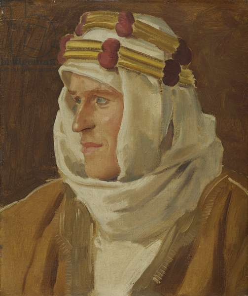 Col. Thomas Edward Lawrence,1919 (oil on canvas)