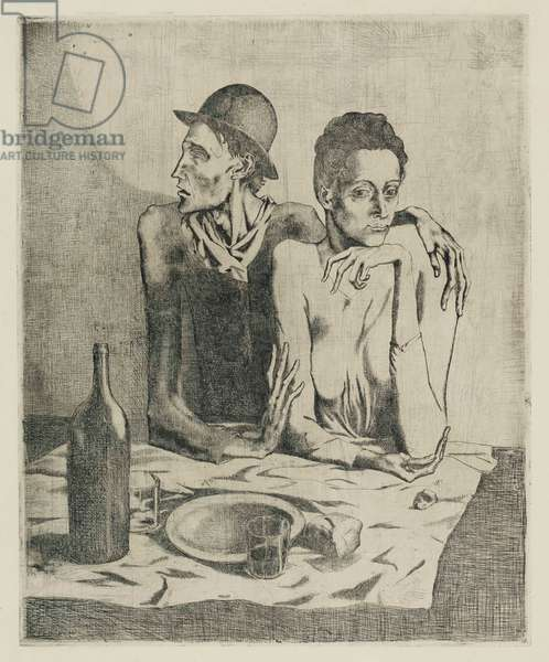 Le Repas Frugal, from La Suite des Saltimbanques, 1904 (etching with drypoint)