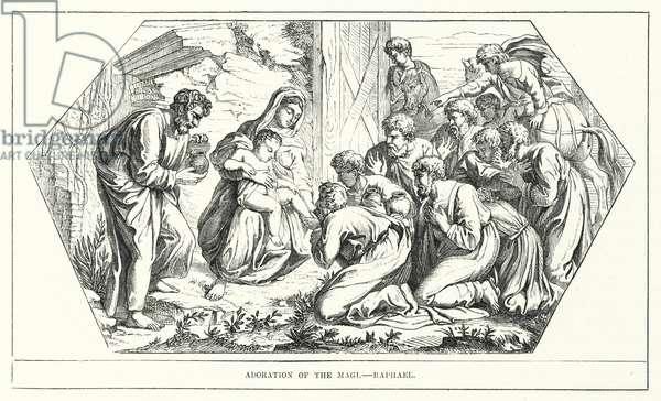 Adoration of the Magi, Raphael (engraving)