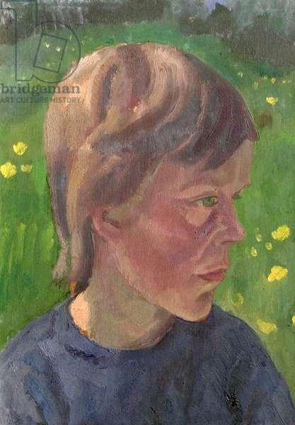 Girl's Head, 1927 (oil on canvas)