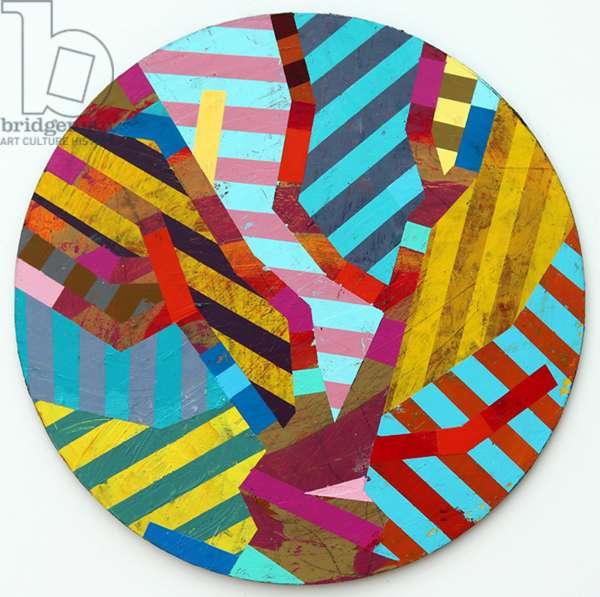 Twixt Heaven & Earth XIV-A (acrylic on circular board)