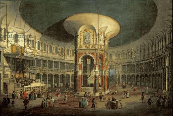 Interior of the Rotunda, Ranelagh, 1754 (oil on canvas)