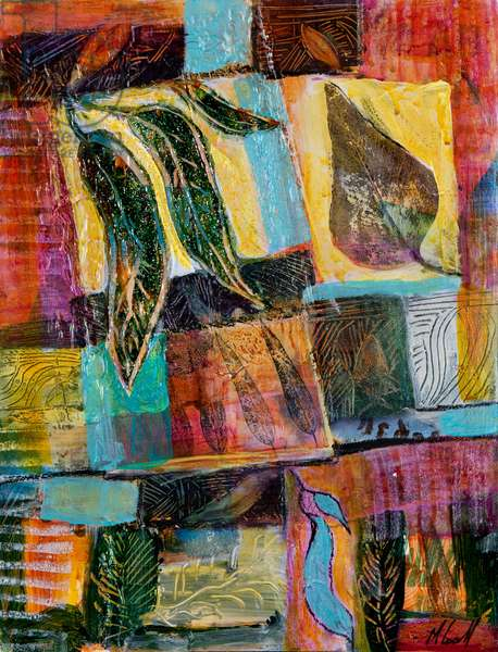 Leaf Montage, 2012 (acrylic on canvas)