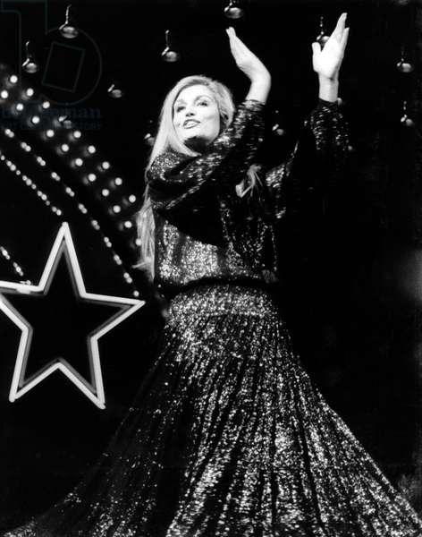 French singer Dalida, end 1970s