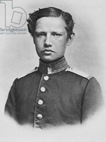 Paul von Hindenburg as a Cadet, Berlin, 1865 (b/w photo)