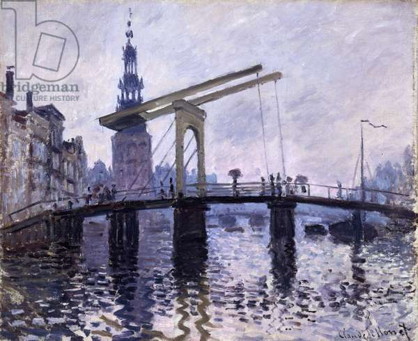 Le Pont, Amsterdam, 1870-71 (oil on canvas)