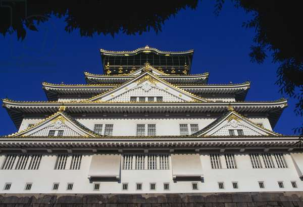 Facade of Osaka castle, Kansai, Japan, 16th-20th century