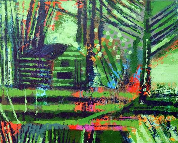 Retreat Iona II (acrylic on canvas)