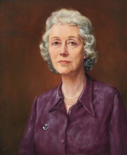 Lady Reed, wife of General Sir Anthony Reed, 1973 (oil on canvas)