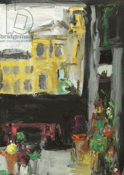 Under The Bridge-The Florist, 2014, (oil on canvas)