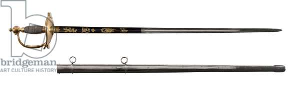 Sword of Duke of Wellington and scabbard, early 19th century (metal)