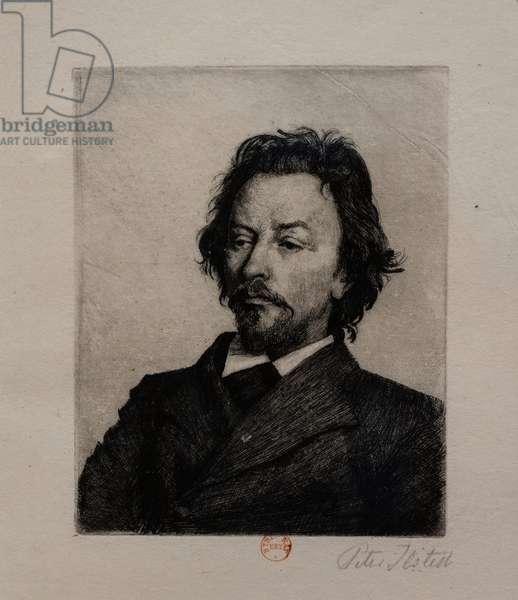 Portrait of Vilhelm Hammershoi, c.1899 (etching)