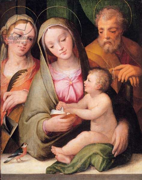 Holy Family with St. Catherine of Alexandria, 1550 (oil on panel)