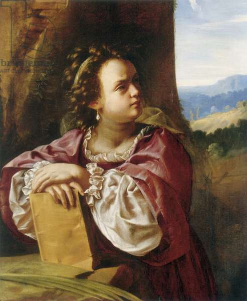 Saint Catherine of Alexandria (oil on canvas)