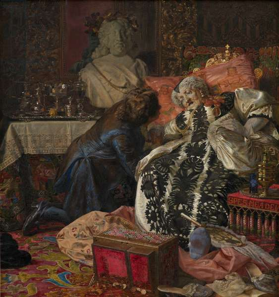 The Death of Queen Sophie Amalie, 1882 (oil on canvas)