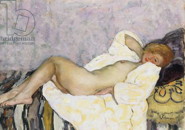 Reclining Nude; Nu Couche,  (oil on canvas)