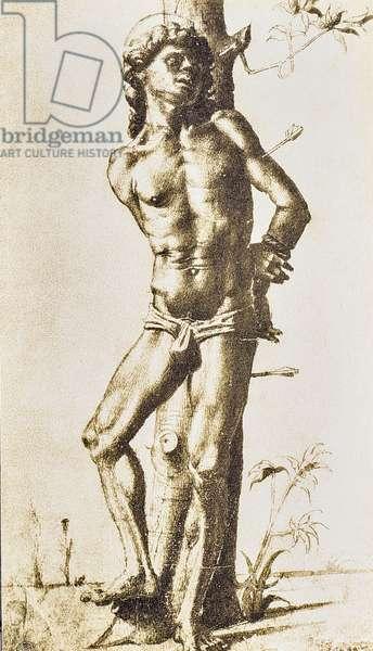 Figure of a saint, drawing by Raffaello Sanzio. Gabinetto dei Disegni e delle Stampe, Uffizi Gallery, Florence