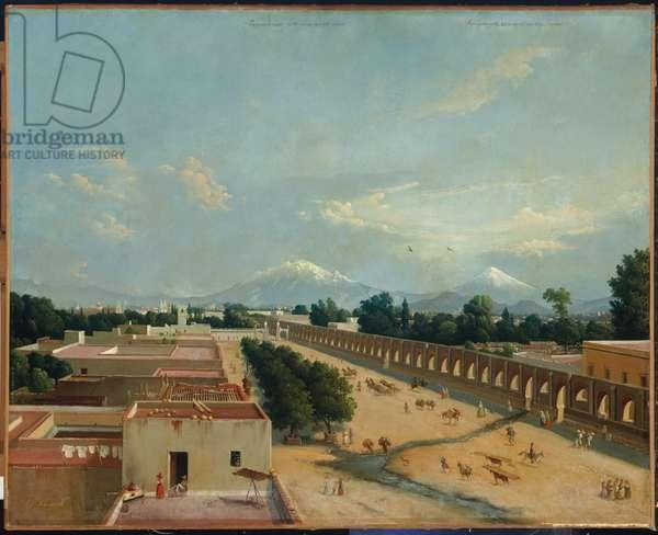 Acueducto de Chapultepec, 1842 (oil on canvas)