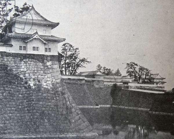 The moat of Osaka Castle