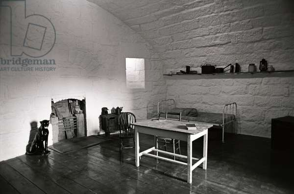 James Joyce apartment within the James Joyce Martello Tower and Museum, Sandycove, Dublin, Ireland (photo)