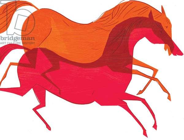 Horses, 2008, (mixed media)