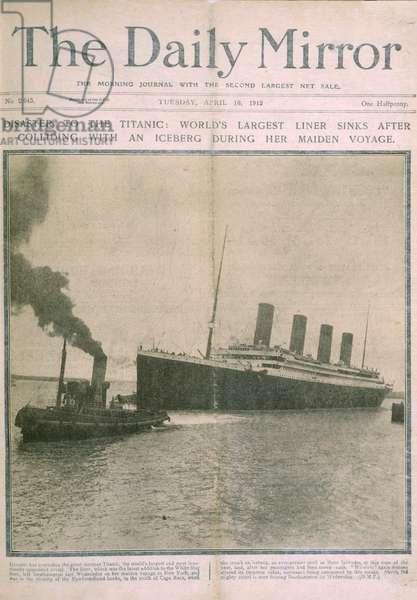The Titanic disaster