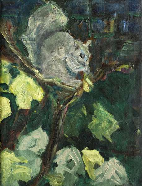 The Fig Thief,2016,(oil on canvas0