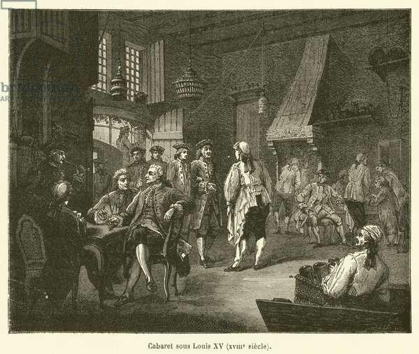 Cabaret sous Louis XV, XVIIIe siecle (engraving)