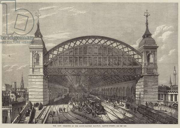 The City Terminus of the South-Eastern Railway, Cannon Street (engraving)