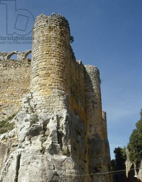 Syria. Citadel of Salah Ed-Din or Saladin Castle. Near Al-Haffah.  Near Al-Haffah. Near East.